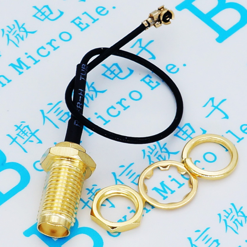 Free shipping (5pcs) Mini PCI U.FL to SMA connector Antenna WiFi Pigtail Cable IPX to SMA Extension Cable