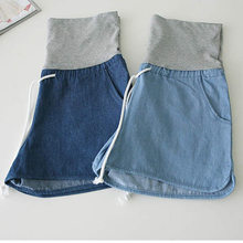 2019 Maternity Denim Loose Shorts Jeans Plus Size Clothes Pregnant Women Capris Pants For Pregnancy Clothing Maternity Pants(China)