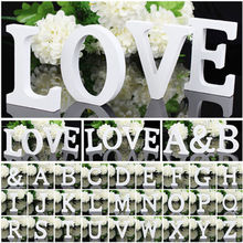 Standing word alphabet birthday wood letter wooden part wedding decoration pcs