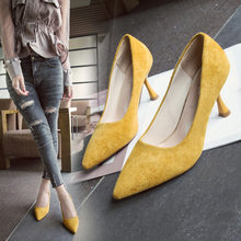 2018 new hot Korean version of the wild elegant comfortable work shoes fashion pointed high heels sexy stilettos(China)