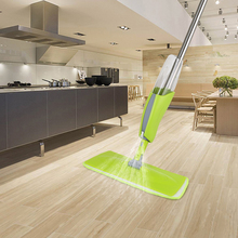 Household Fashionable Stainless Steel Pole Floor Mop Quick Sweep Cleaning Tool Detachable Microfiber Pad Spray Mops with 380ml