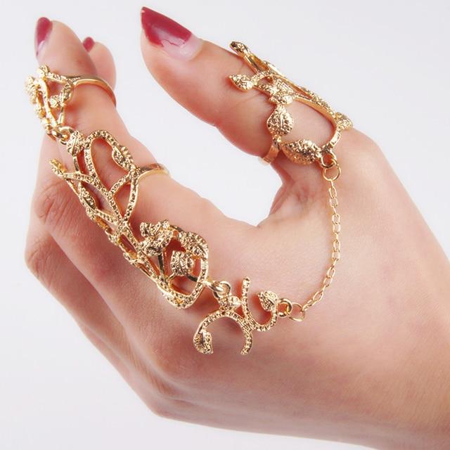Aliexpress.com : Buy New Fashion Gold Chain Full Finger ...