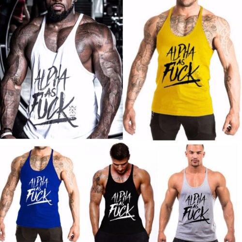 26e6e387dec2b New Summer Running Vests Men s Stringer Bodybuilding Tank Top Gym Fitness  Singlet Sleeveless Muscle Vest Cotton Shirt Size M-2XL