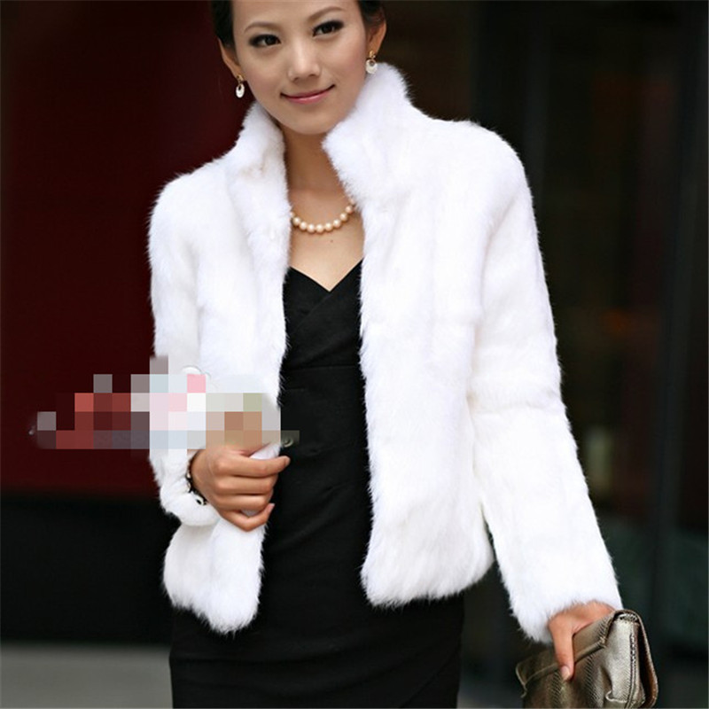 White Faux Fur Coat Womens Promotion-Shop for Promotional White