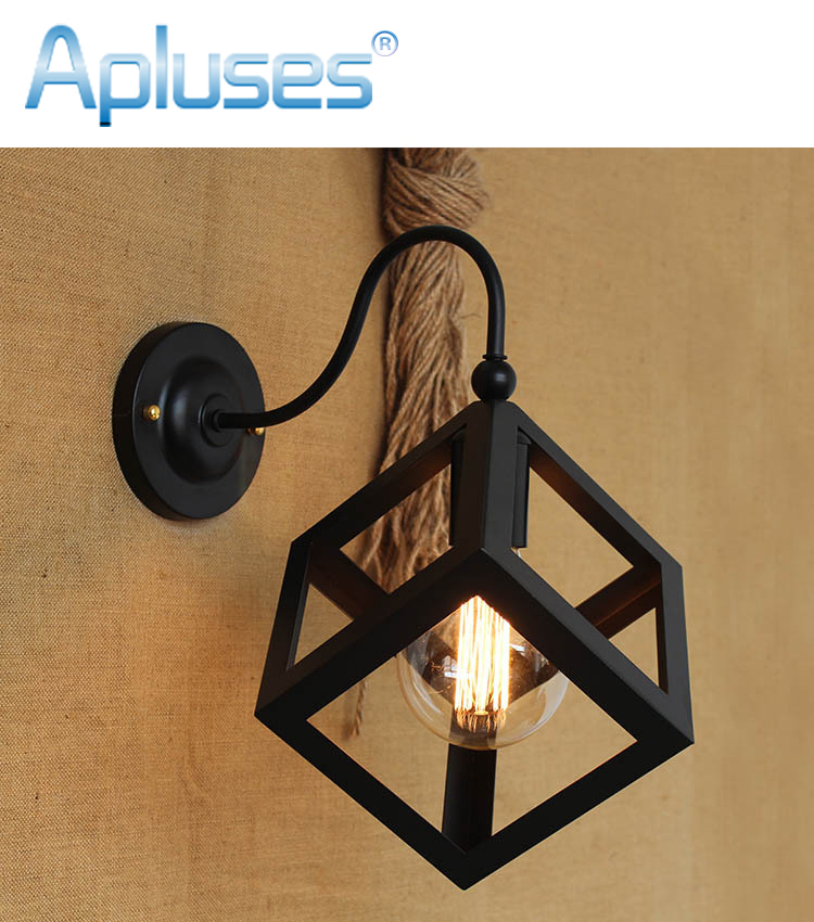 Antique Wrought Vintage Brief Retro Style Wall Light Sconce Edison Type Bulb Lamp