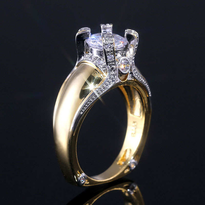 High Quality Crown Rings for Women Luxury Brand Micro Pave AAA Zircon Rings Silver Gold Wedding Bands Jewelry Dropshipping in Rings from Jewelry Accessories