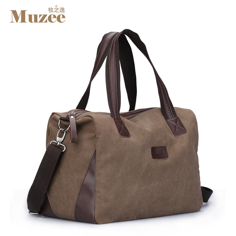 Prix pour 2017 Nouveau Muzee Marque Vintage grande capacité hommes toile voyage sacs Top qualité duffle voyage bagages sac, livraison gratuite