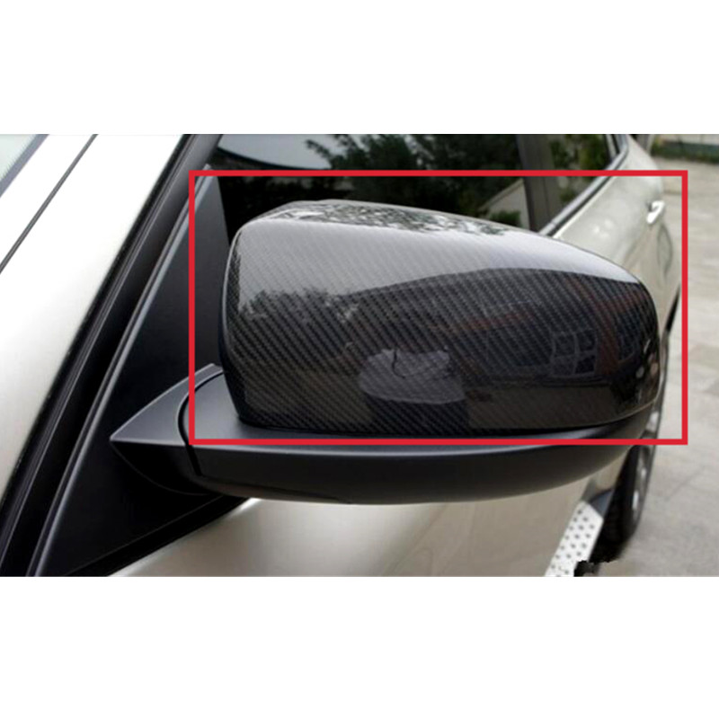 Car Styling!For BMW X5 E70 2009-2013 Real Carbon Fiber Mirror Covers Pair car styling carbon fiber rear view mirror cover for bmw x5 e70 x6 e71 2007 2013