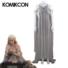 купить Game of Thrones Cosplay Costume Daenerys Targaryen Dress For Women Long Dress Outfit Halloween Christmas Party Uniform по цене 6571.83 рублей