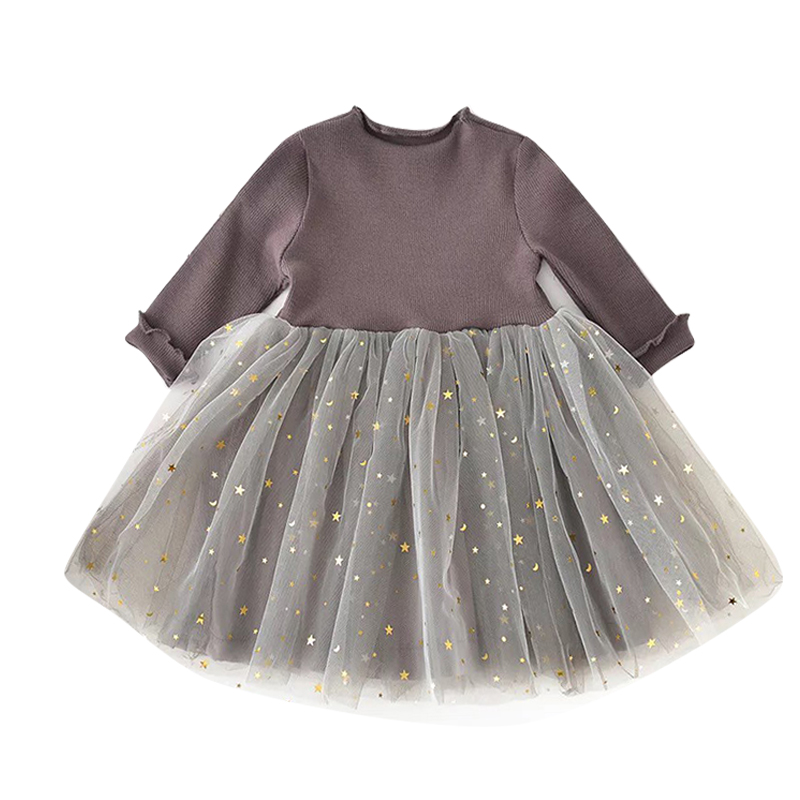 f0b4d351429 Baby Girl Dress Long Sleeve Winter Dress 1 Year Birthday Party Toddler Girls  Kids Clothes Sparkle