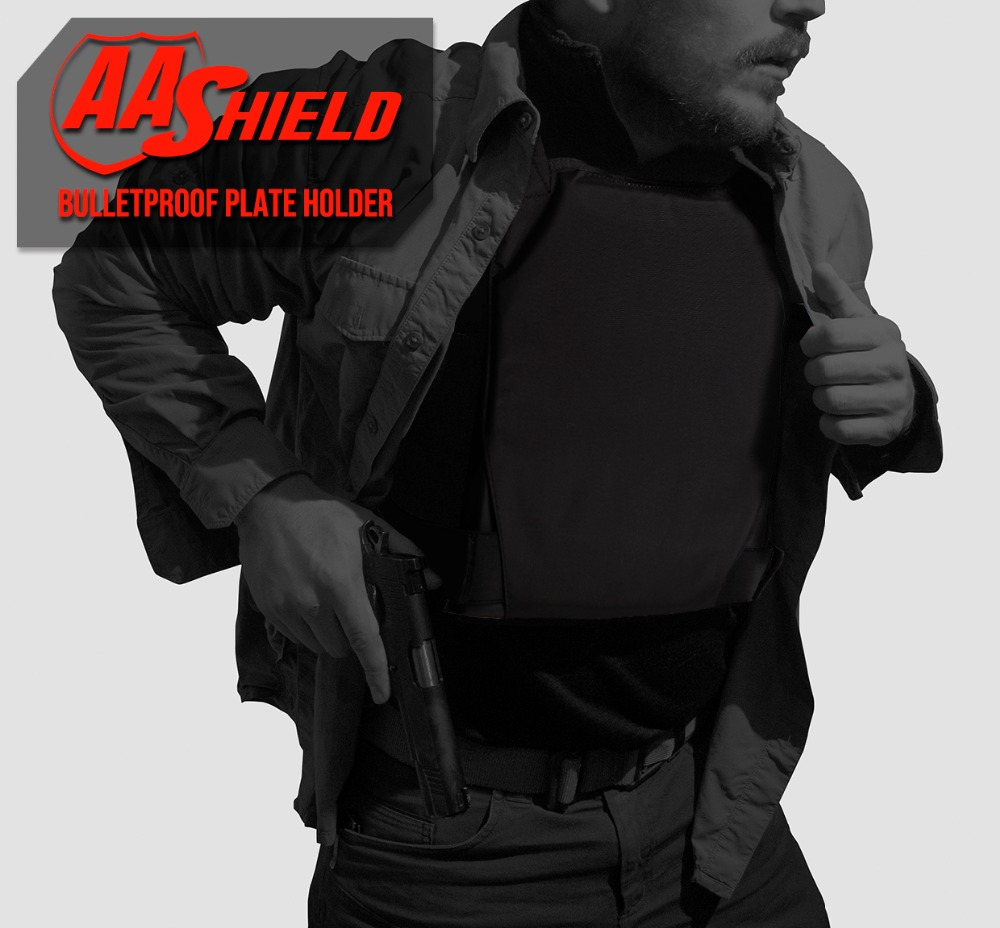 Image 2 - AA Shield Plate Holder Soft Armor Panel Covert Carrier Ballistic Body Armor 10X12 Bullet Proof Plates Concealed Vest-in Safety Clothing from Security & Protection