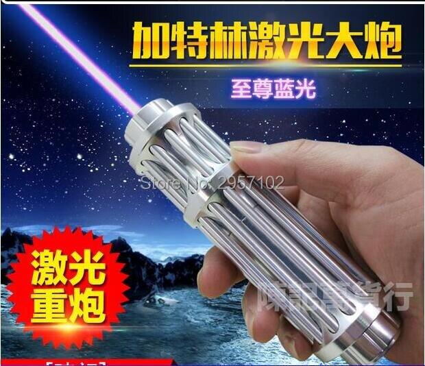 AAA 5 en 1 Forte 500000 m 50 w Bleu pointeurs laser 450nm Poche Allumette/bois sec/ noir/cigarettes Laser torche