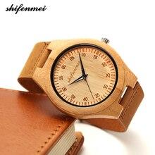 zk30 Wooden Watches Quartz Watch Men Bamboo Modern Wristwatc