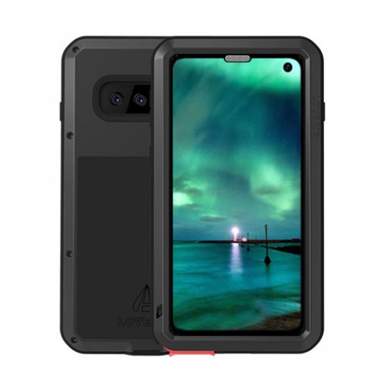 LOVEMEI Dirt resistant Anti knock Metal Aluminum Case with Gorilla Glass for Samsung Galaxy S10 G9730