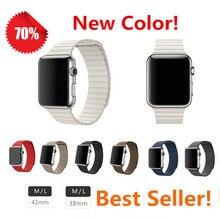 38mm 42mm bucle magnético para apple watch band correa de cuero genuino correa de reloj inteligente-classical series para apple watch & deporte
