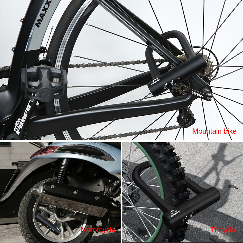 INBIKE Bike Bicycle Folding Alloy Steel Security Anti-Theft Thickened Locks