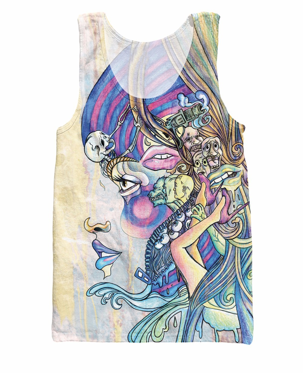 3b383f8d016 New Arrive Unisex Women Men 3d tee tops Fever Tank Top Fashion ...