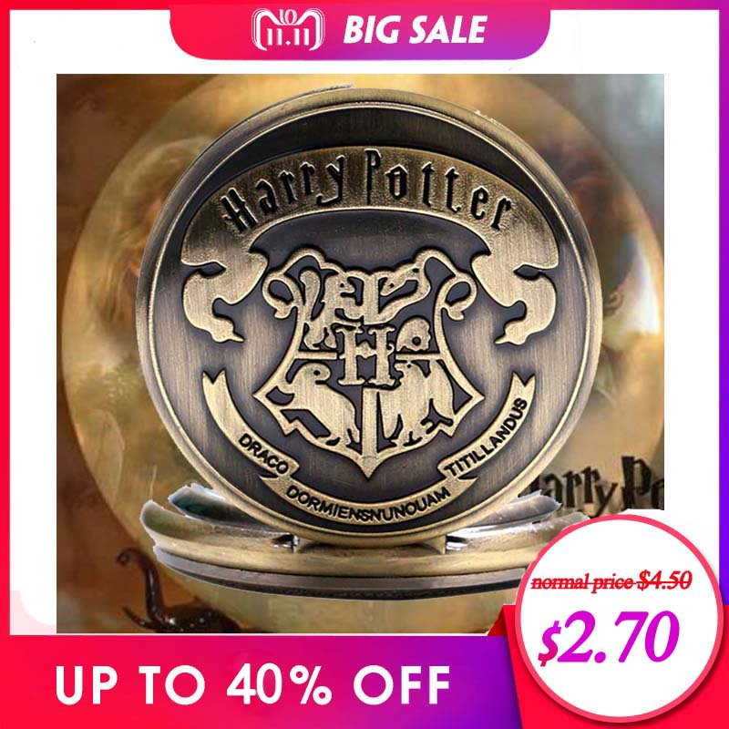 цена на Harry Potter Sweater Necklace Hogwarts Slytherin Ravenclaw Clock Retro Snitch Quidditch The Deathly Hallows Quartz Pocket Watch