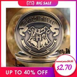 Харри свитер в стиле Гарри Поттера цепочки и ожерелья Хогвартс Слизерин Ravenclaw часы Ретро снитч Quidditch Дары смерти кварцевые карманные часы
