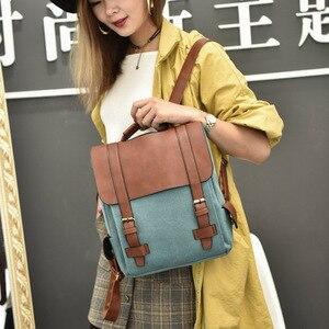 Image 5 - Luxy księżyc rocznika kobiety Canvas plecaki dla nastolatek dziewczyny szkolne torby duże wysokiej jakości Patchwork plecak Escolares XA29H