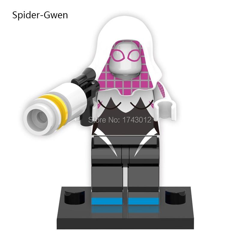 30 шт. Star Wars Super Heroes-паук Gwen Зеленый Гоблин Wonder Woman кирпичи набор модель здания Конструкторы Детский подарок Игрушечные лошадки XH 215