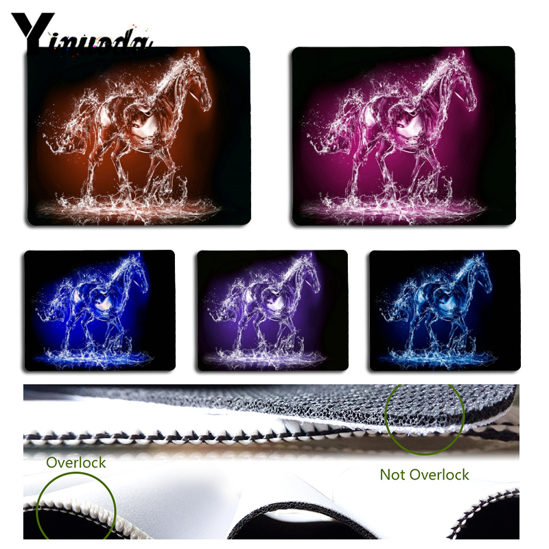 Yinuoda Top Quality Creative water wave 3D horse Comfort Mouse Mat Gaming Mousepad Size for 18x22cm and 25x29cm Rubber Mousemats