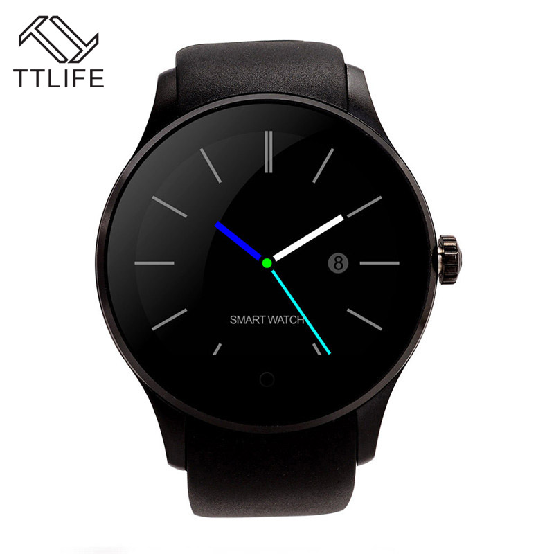2016 TTLIFE Brand K88S Bluetooth font b Smartwatch b font Smart Watches Heart Rate Monitor Clock
