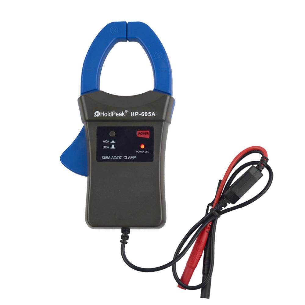 HoldPeak HP-605A Morsetto Adattatore 600A AC/DC di Alimentazione di Corrente LED 45 millimetri Jaw calibro HoldPeak Multimetro Pinza Digitale per multimetro