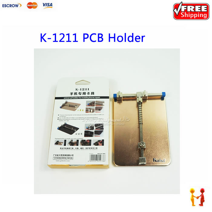 Kaisi K-1211 PCB Holder Jig Holder Work Station SMD Soldering Platform for Mobile Phone Circuit Board Clamp Fixture Repair Tools mobile phone repair tools aluminum metal lcd pcb holder tray for iphone lcd panel refurbish support station