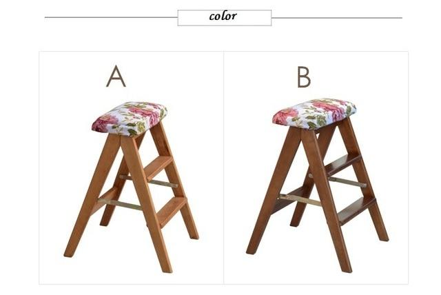 Bambini sgabello pieghevole sedia di casa scala pieghevole