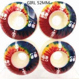 Image 2 - Conjunto de 4 ruedas PRO de EE. UU. De PU de alta densidad, color blanco puro, ruedas de patín de 52mm, ruedas de patín para Kaykay Paten