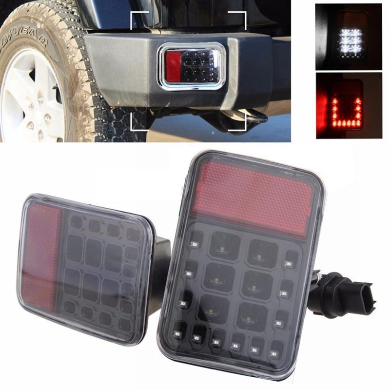 Пара LED задний хвост заднего бампера света парковка Резервное копирование Обратный Лампа тормоза на 1997 год~2016 Jeep Вранглер JK 6500К Красный