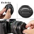 Бесплатная Доставка 52 ММ 55 мм 58 мм 62 мм 67 мм 72 мм 77 мм Snap-На Передней Крышка объектива/Обложка для Canon, Nikon, DSLR все линзы с веревкой