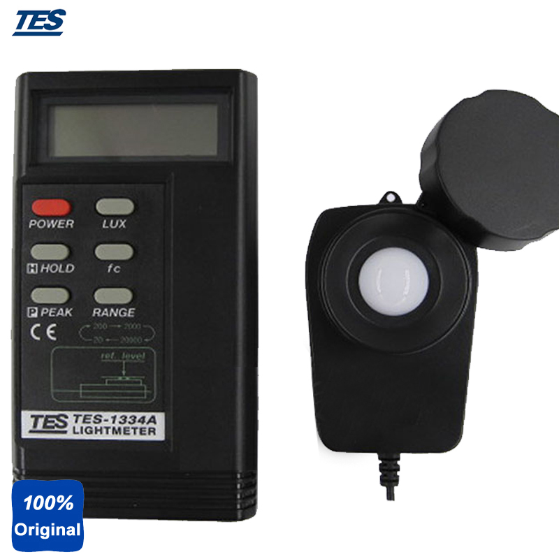 TES-1334A Digital Light Meter Lux Tester Illuminance Meter with Data Hold Function Peak Hold function fast arrival victor illuminance meter vc1010b meter meter lumens tester illuminance meter brightness table