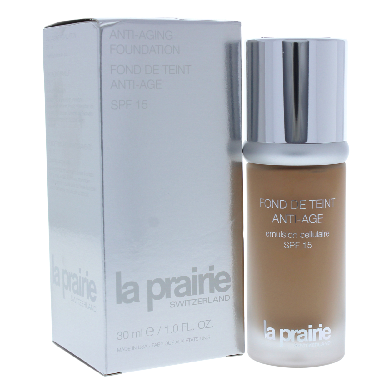 Anti-Aging Foundation SPF 15 -# 700 by La Prairie for Women - 1 oz Foundation tint du soleil whipped foundation spf 30 light by colorescience for women 1 oz foundation