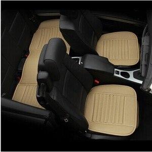 Image 2 - Capa de assento de carro de luxo couro universal preto tampas de assento de carro todo cercado almofada de assento de carro
