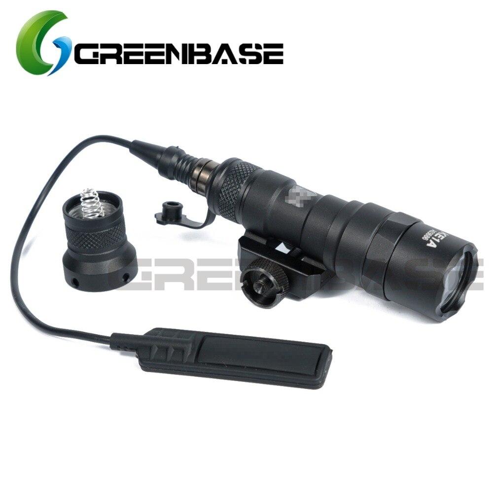 Greenbase Tactical M300 M300B MINI Scout Light Outdoor Rifle Hunting Flashlight 400 lumen Weapon Light LED Lanterna