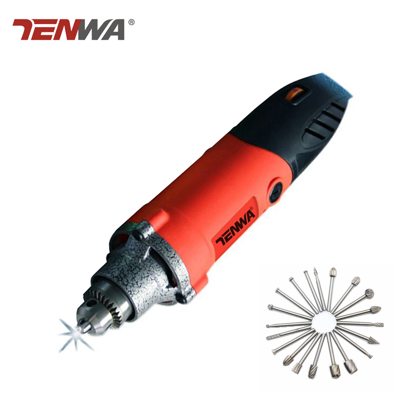Tenwa 220V Electric Drill Dremel Grinder Rotary Mini Electric Drill Power Tools Grinding Machine Dremel Accessories trochilus400w drills grinding rotary machine mini grinder electric engravers adjustable angle grinder tools sets moledores80505