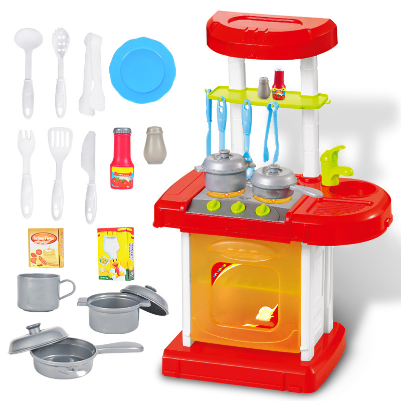 Kids furniture Toys Pretend Play Cooking Toys Tableware Sets Baby Kitchen Cooking Simulation Model Happy Pretend Play Toys guidecraft usa pretend