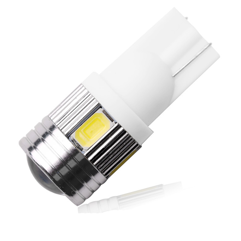2016 New update 4 colors T10 LED 1 PCS Auto Car Light Bulb 5730 SMD 6 LED W5W 12V Interior Parking Projector Lens Free Shipping