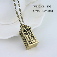 Doctor Who Police Box WOMEN Pendant Necklaces