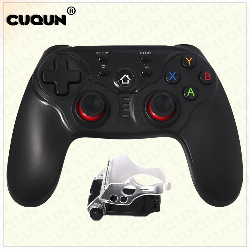 Wireless Bluetooth Game Controller Gamepad Portable Handle Bracket Joystick for Smart Phones Tablets TVs TV boxes