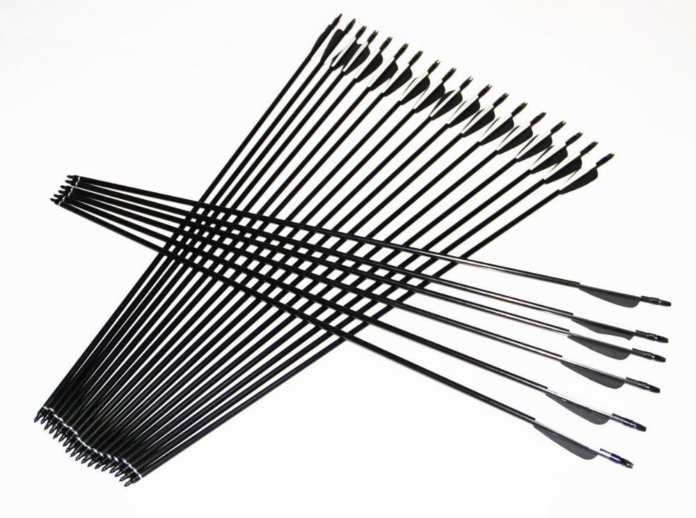 New Arrival 18pcs/25pcs 80cm Glass Fiber Arrow Plastic Fletching Archery Arrows 2015 Hot Sale Bow Arrows Hunting Archery