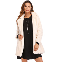 Womens Coat With Fur Long Thick Warm Winter 2018 Fashion Solid 8 Colors Plus Size 4XL Fake Fox Fur Pink Russian Coats Overcoat