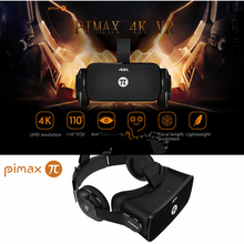 Newest PiMax 4K UHD VR Virtual Reality Glasses 3D Headset PC 110 Degree FOV 8.29MP IPD Adjustment Dual Gyroscope Anti Blue Laser
