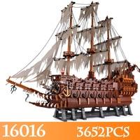 Фильмы серии 16016 3652 шт. летающие Нидерланды Модель Строительство Наборы Совместимость legoINGlys пиратский корабль блок кирпич игрушка