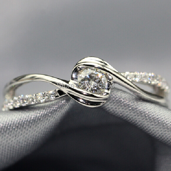 Aliexpress.com : Buy Natural Diamond Engagement Ring 925 Sterling Silver  Platinum Plated Wedding Band For Women 0.1ct Real Diamond Ring Not  Simulated from ...