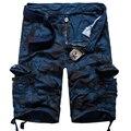 Новый Стиль мужская Работа ткани Свободные Брюки multi-карман Военные Грузовые Комбинезоны Прогулки Удобная Повседневная Камуфляж Брюки homme