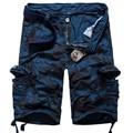 Nuevo Estilo de Los Hombres Pantalones Sueltos de tela de Trabajo Militar Multi-bolsillo Trajes de Carga Paseo Cómodo Pantalones de Camuflaje Ocasional homme