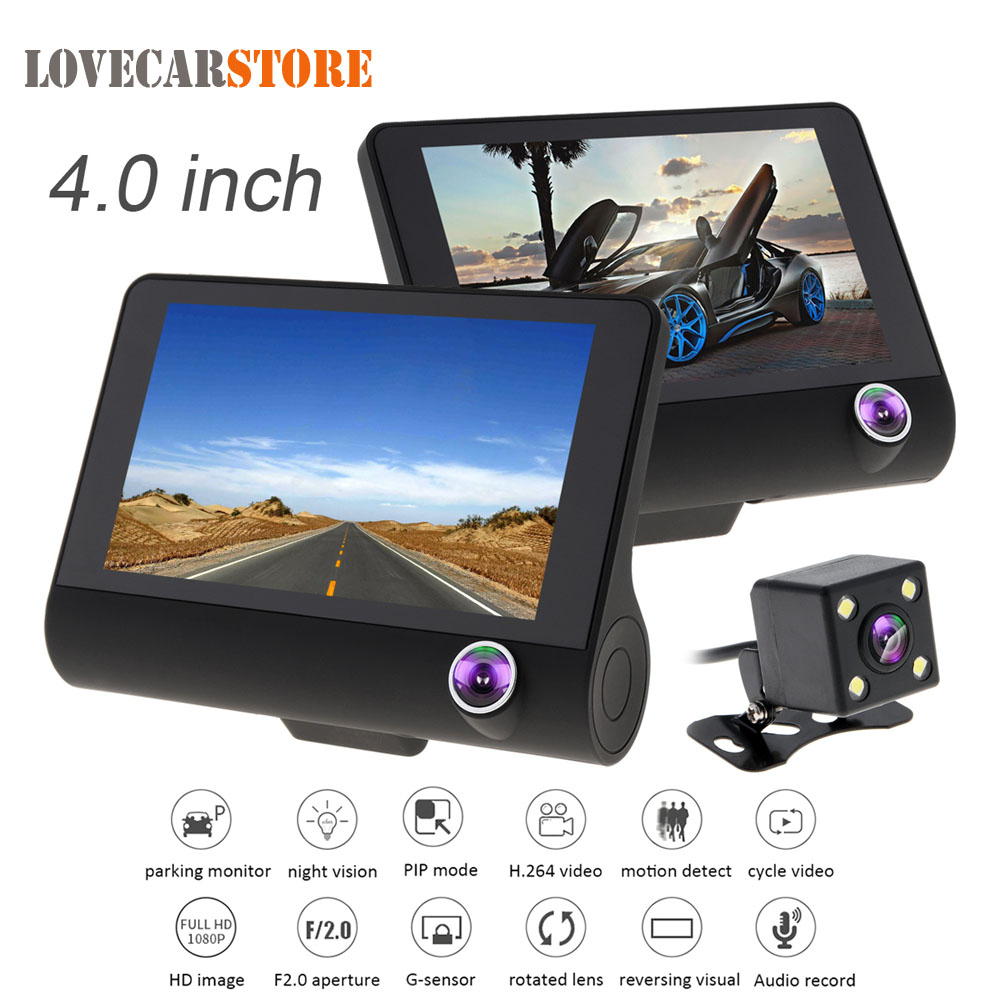 4 0 Inch IPS Screen Full HD 1080P Car DVR Camera Video Recorder Camcorder Auto Dash